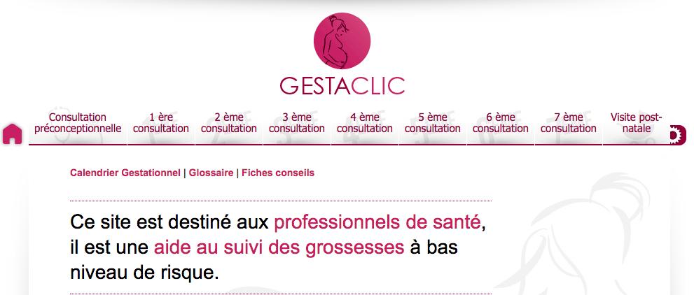 Calendrier Gestationnel.Gestaclic
