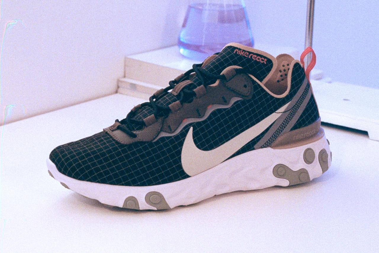 big sale 0457d 26d80 Size   continue sa gamme de chaussures exclusives, cette fois en se  tournant vers le React Element 55 de Nike. La chaussure, aux côtés du très  populaire ...