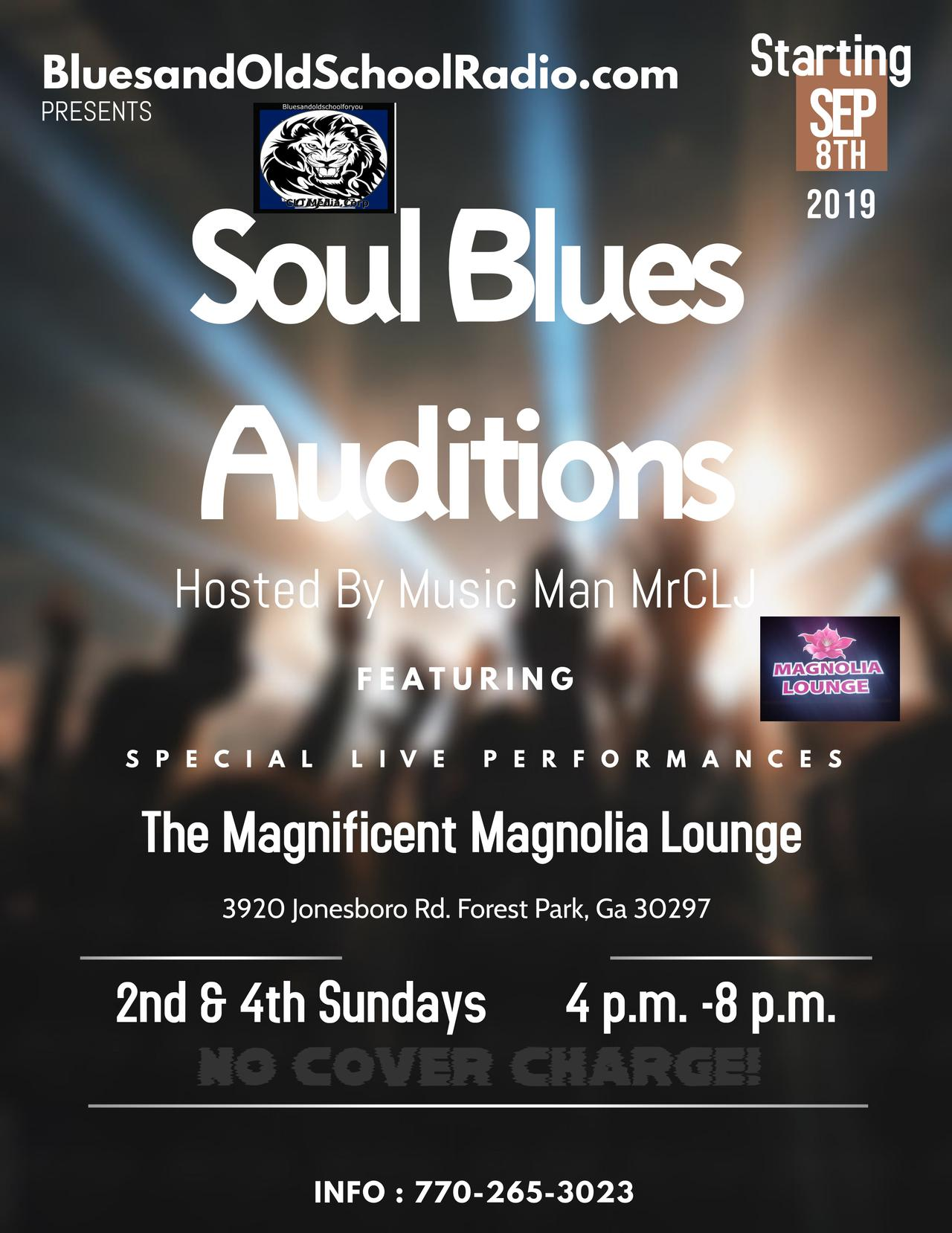 Soul Blues Auditions Flyer