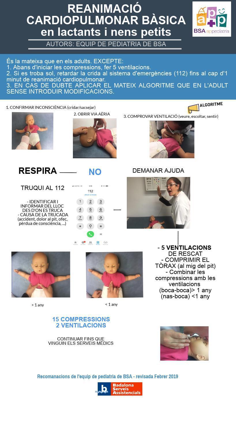 Reanimació cardiopulmonar bàsica en lactants i nens petits