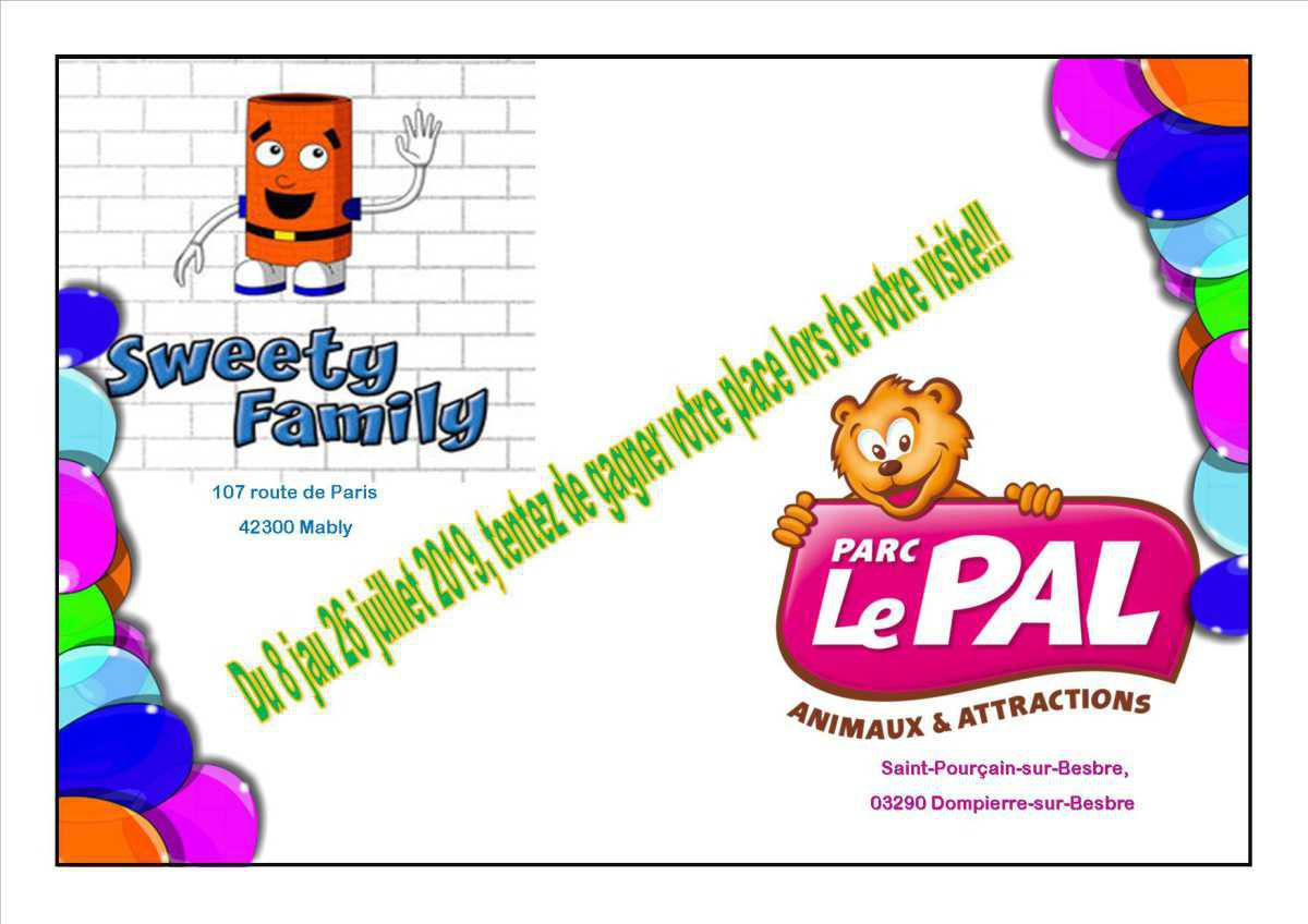 Gagnez vos place au PAL avec SWEETY FAMILY!!!