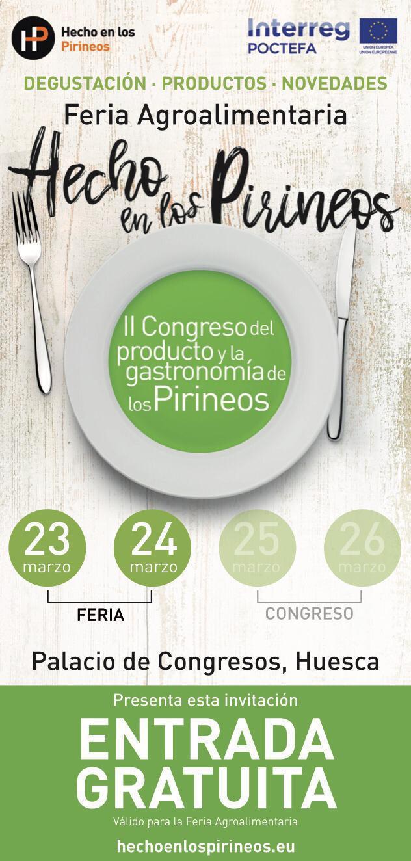 Hecho en los Pirineos 🍇 🧀🥩 La gran Feria gastronómica del Altoaragón y su Congreso.
