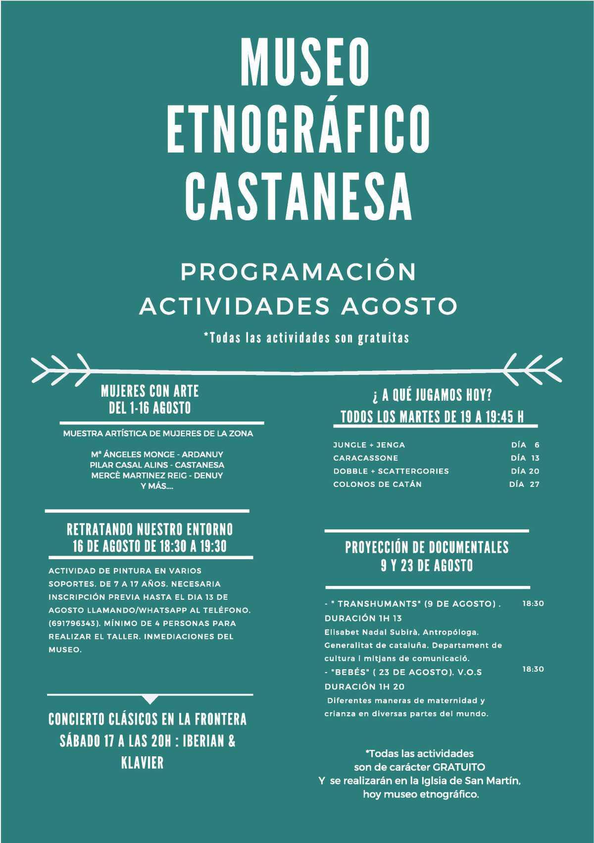 Actividades de verano en el Museo Etnográfico de Castanesa (Huesca)