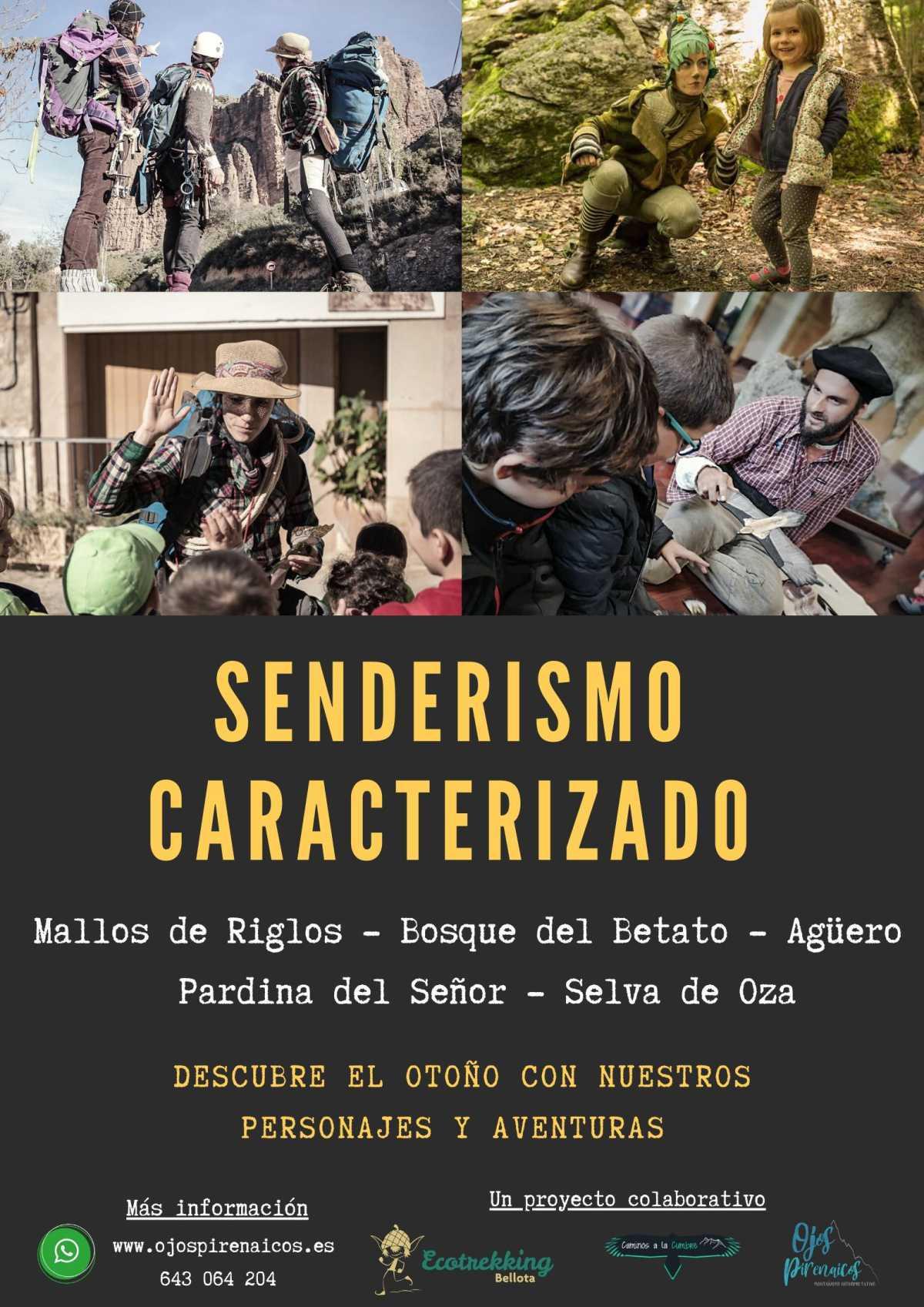 Senderismo y aventuras teatralizadas otoño-invierno en senderos de Huesca