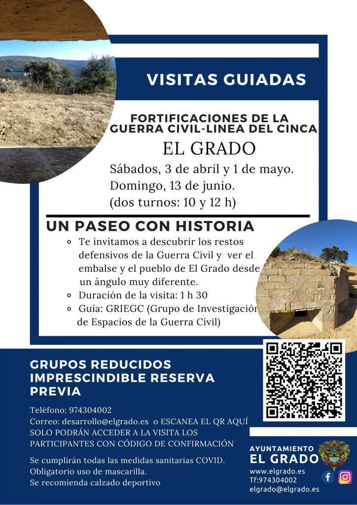Visitas guiadas fortificaciones Guerra Civil en El Grado, Huesca