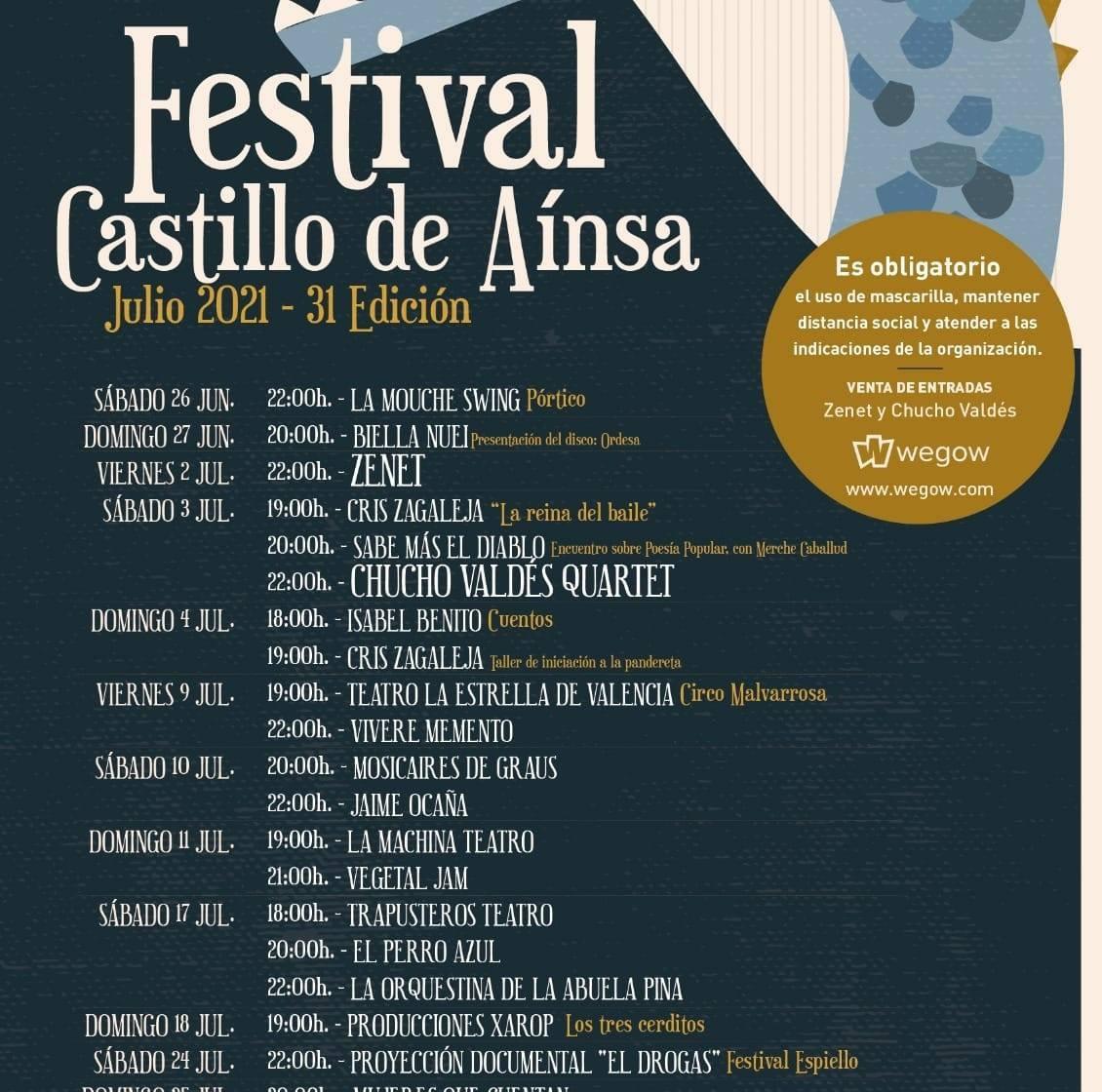 31ª Edición del Festival Castillo de Aínsa