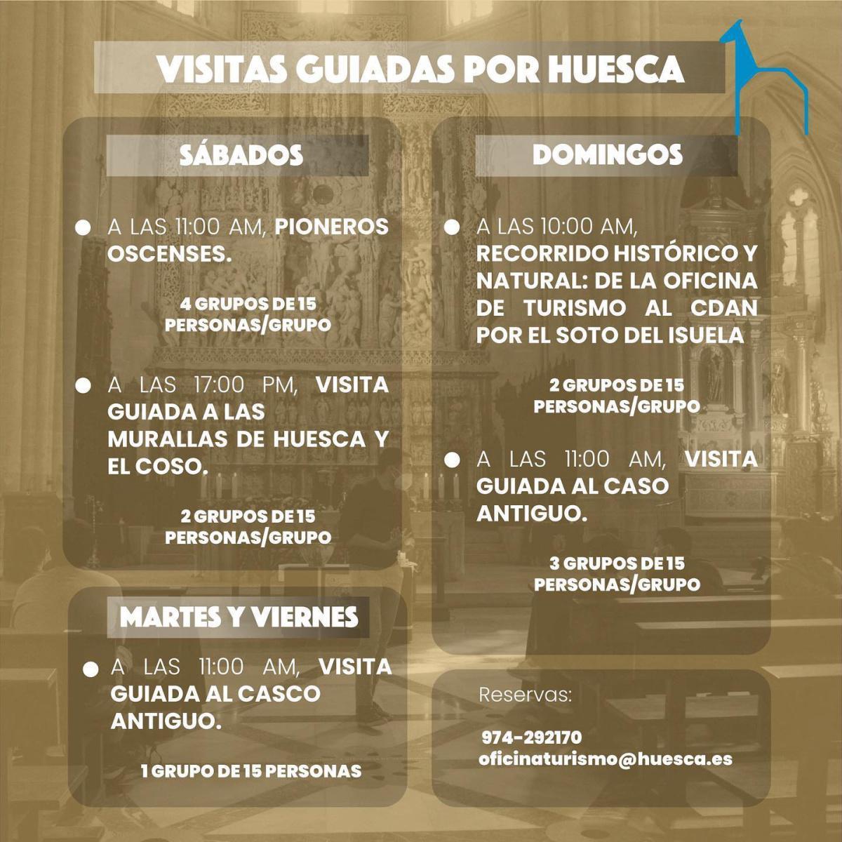 Visitas guiadas en la ciudad de Huesca
