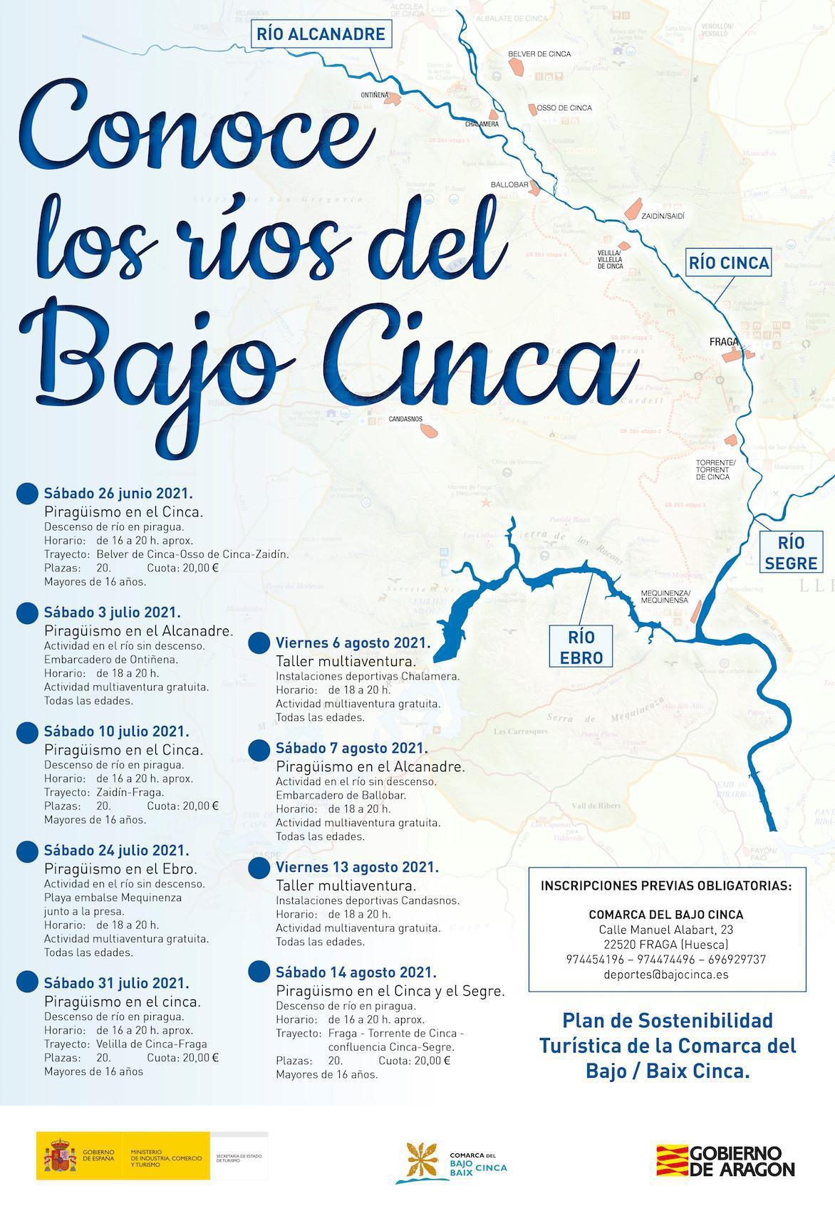 Conoce los ríos del Bajo Cinca. Actividades lúdico-deportivas en recorridos fluviales.