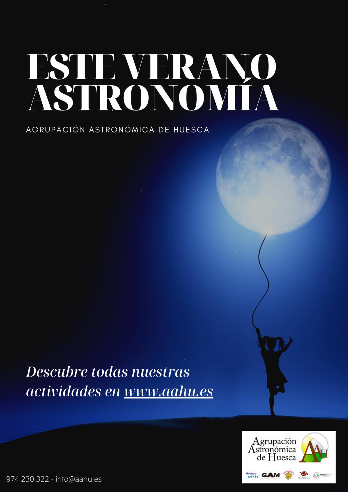 Actividades verano Agrupación Astronómica de Huesca en diferentes localidades.