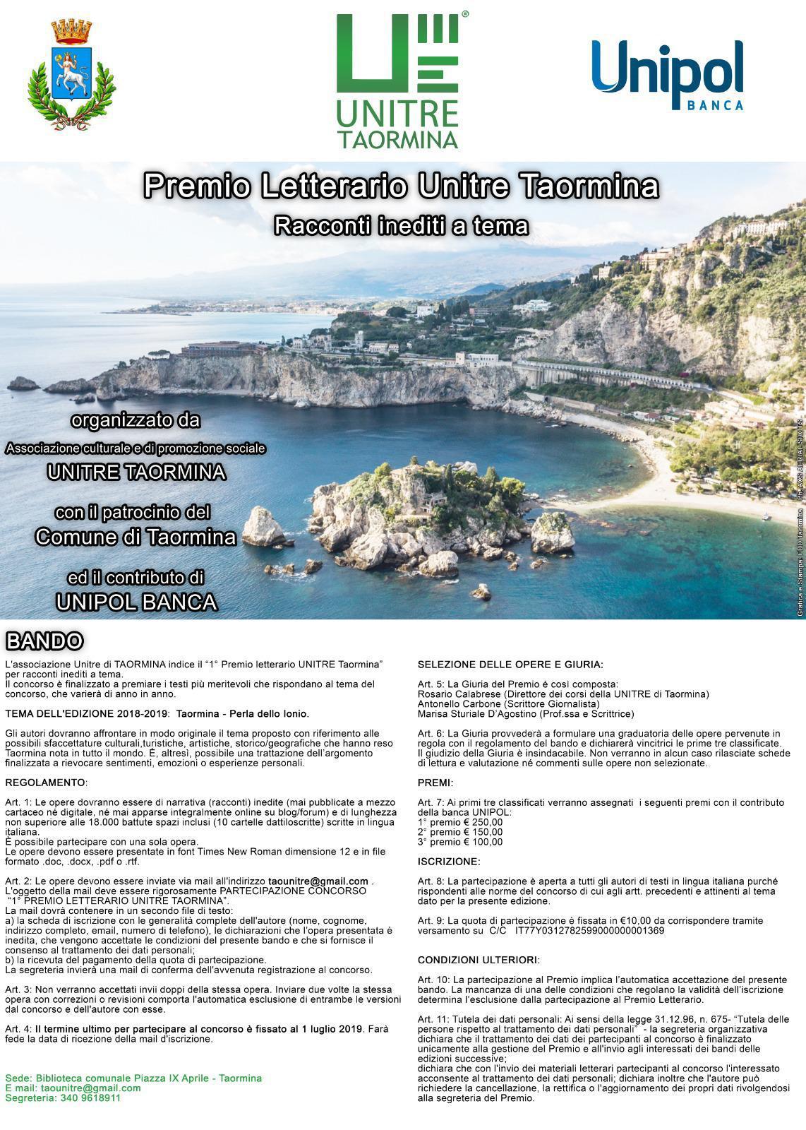 """Concorso """"Taormina- Perla dello Ionio"""""""
