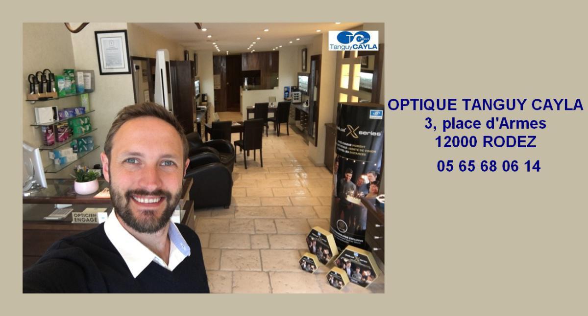 Une nouvelle adresse pour collecter des points : Optique Tanguy Cayla, 3 place d'armes à Rodez