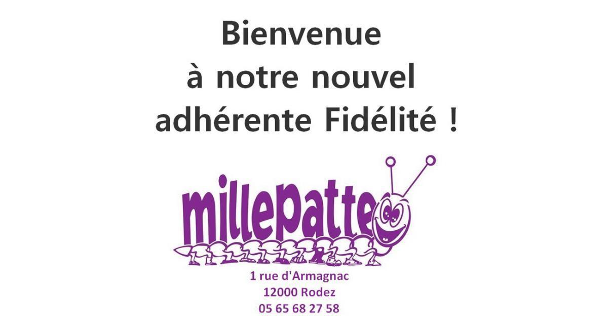 Un nouvel adhérent au club Fidélité : Millepatte Rodez
