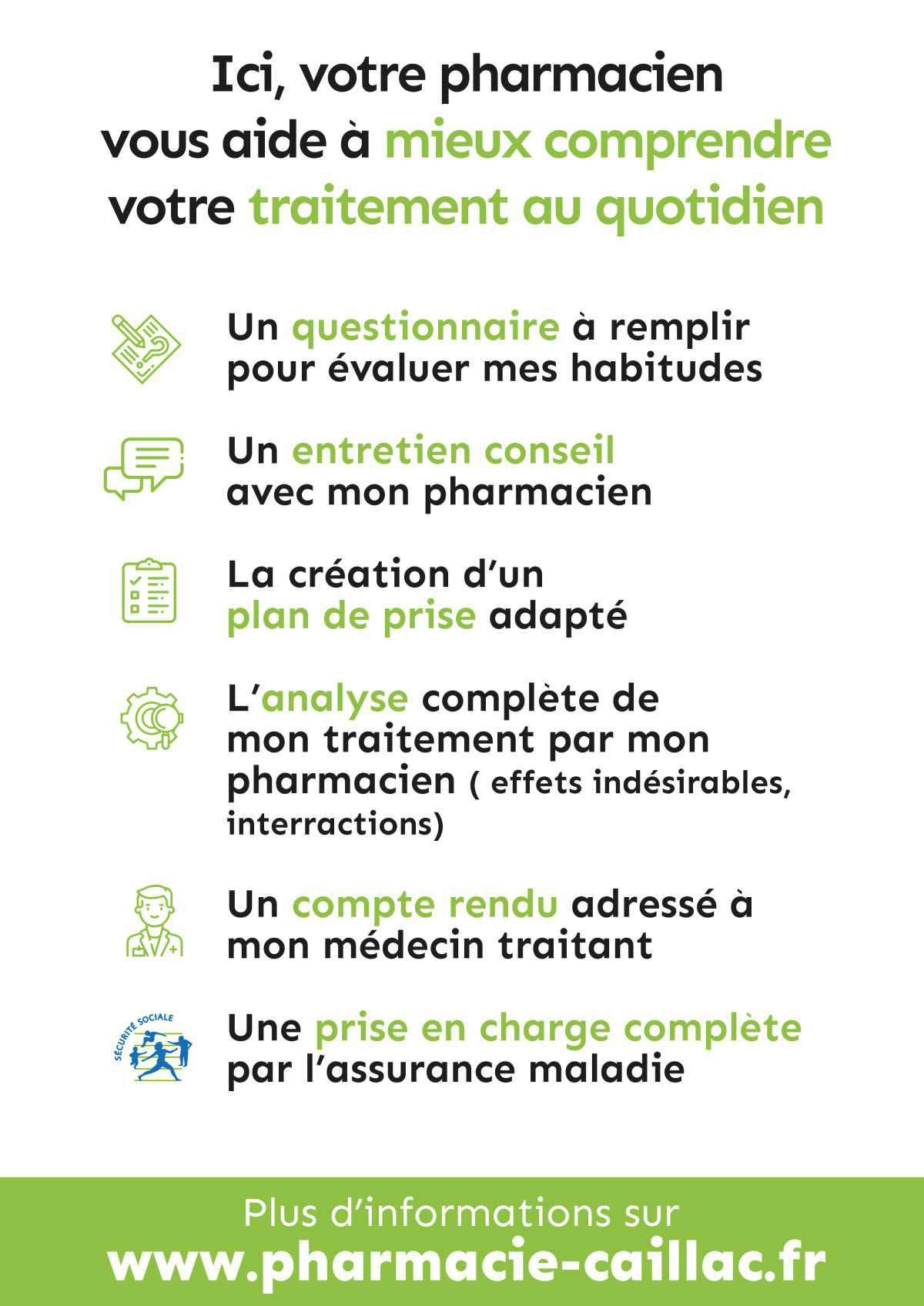 Le bilan de médication: un grand OUI !