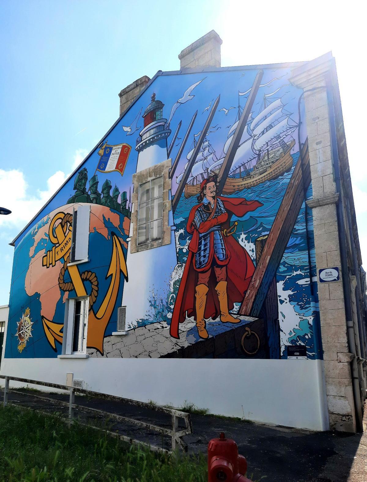 Mur peint du 1er RIMA