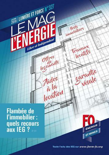 Le Mag. de l'énergie FO Énergie et Mines n°327 - automne 2018