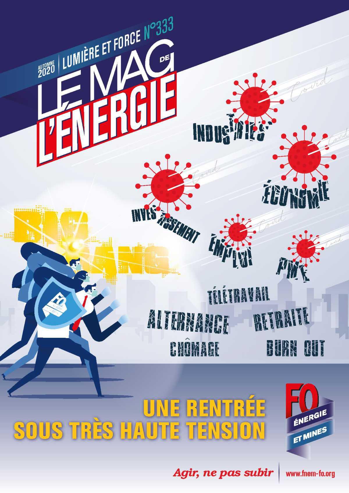 Le Mag de l'Énergie FO Énergie et Mines n° 333 – Automne 2020