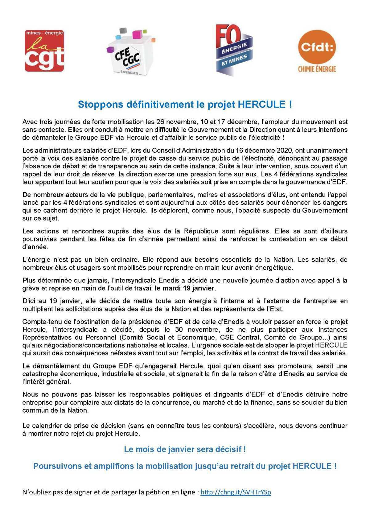 [Appel interfédérale] Groupe EDF contre Hercule