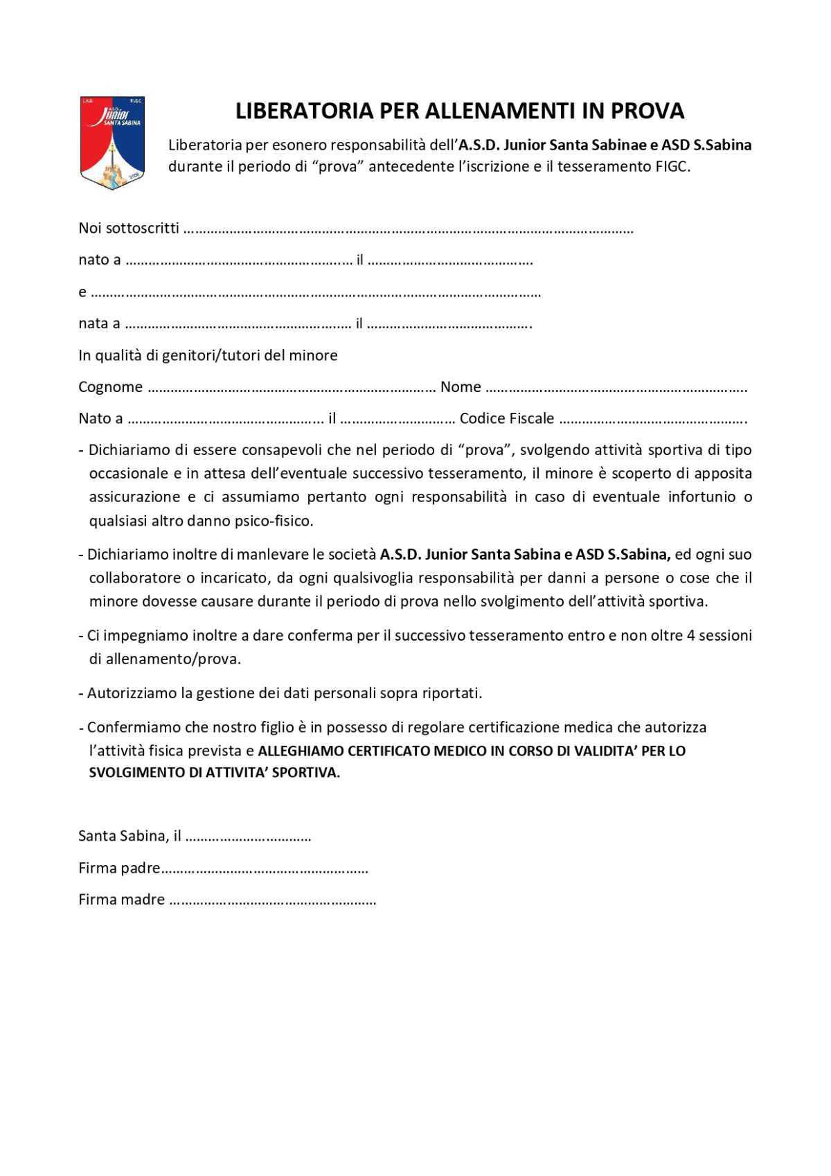 Convocazione Iniziale - INIZIO ATTIVITA' 2021/2022