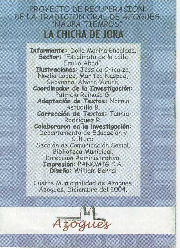 LA CHICHA DE JORA