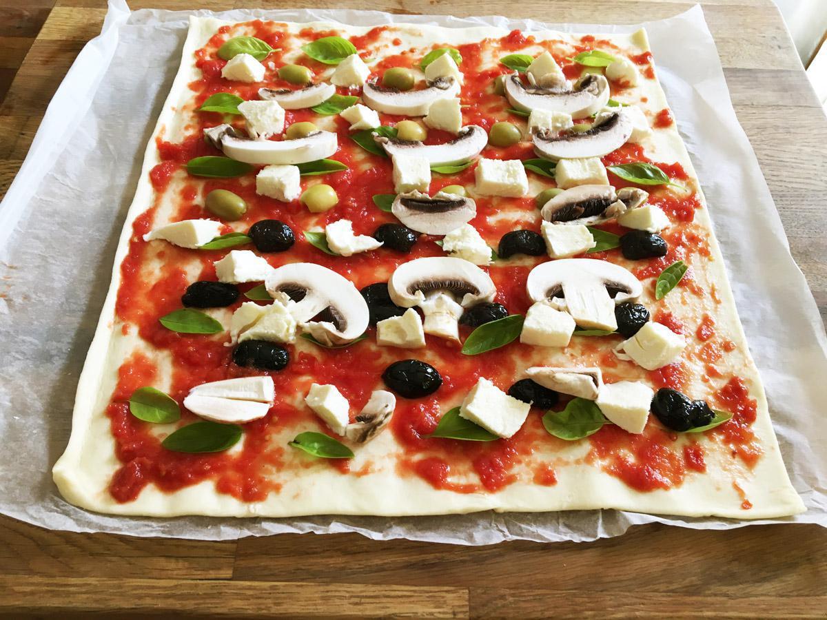 Mini pizzas escargots