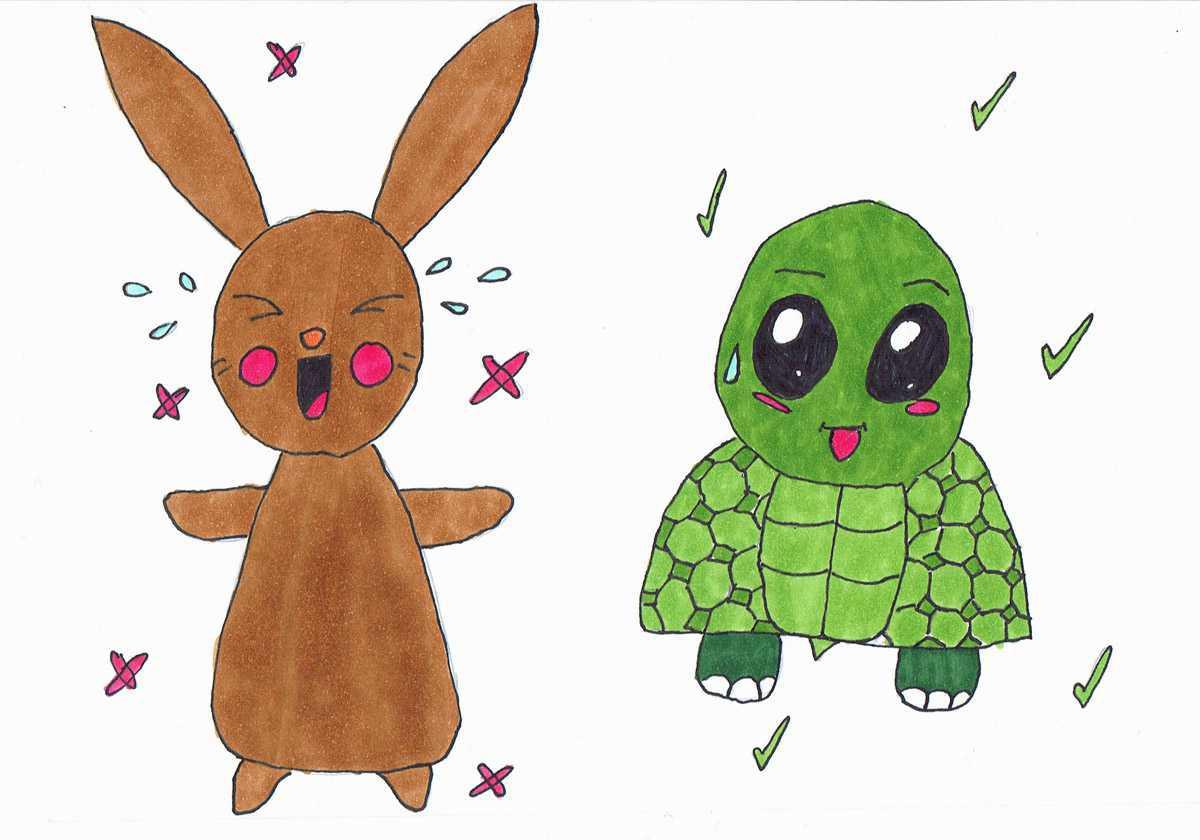 HISTOIRES POUR BIEN GRANDIR - Le lièvre et la tortue : 5 mn **Nouveauté**