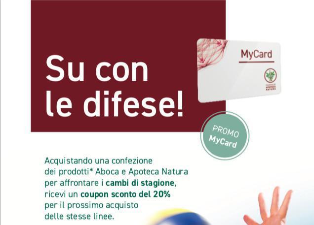 Promo Aboca - Apoteca Natura