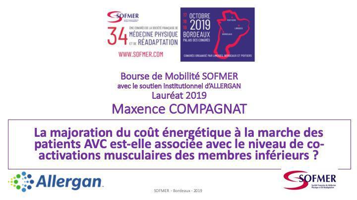 Bourse de Mobilité SOFMER - Lauréat 2019-Maxence COMPAGNAT