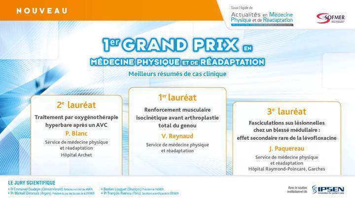 Grand Prix en Médecine Physique et Réadaptation
