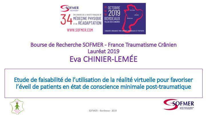Bourse de Recherche SOFMER - Lauréat 2019 - Eva CHINIER-LEMÉE