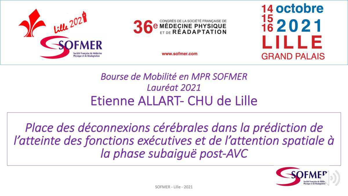 Bourse de Mobilité SOFMER - Lauréat 2021 - Etienne ALLART