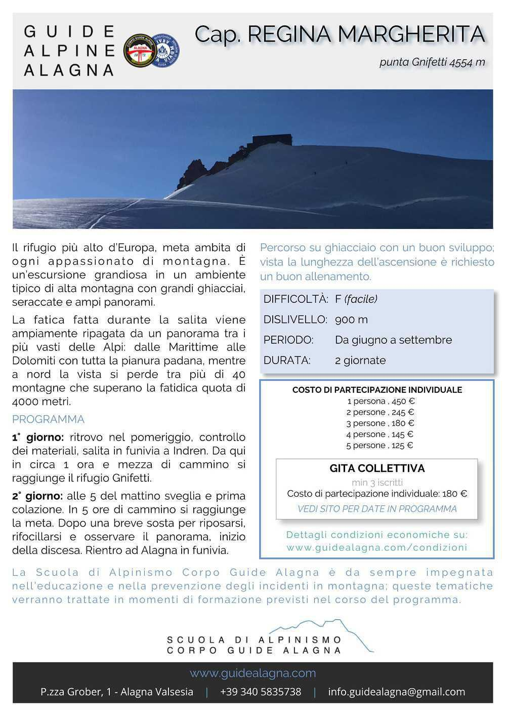 Capanna Regina Margherita - Guide Alpine Alagna