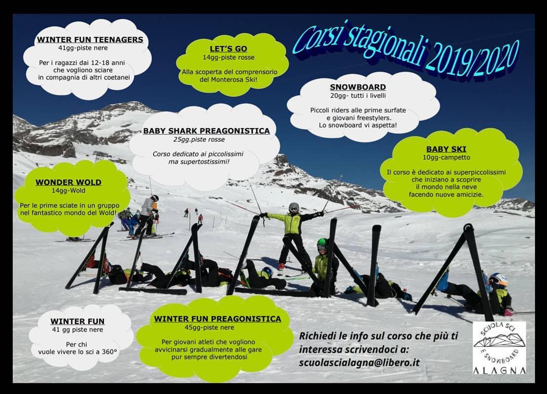 Corsi Stagionali Scuola Sci - Seasonal Ski Courses