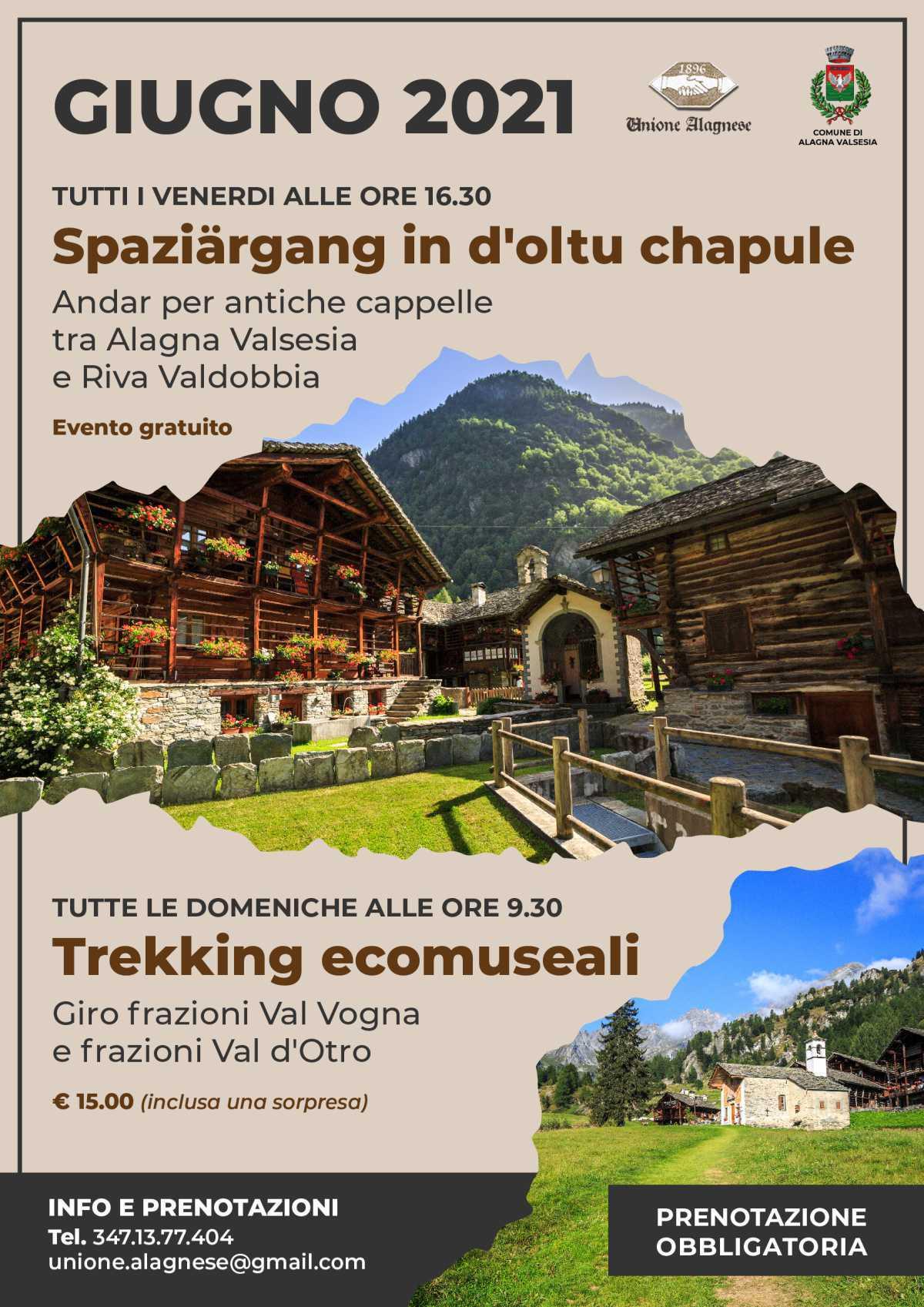 Trekking Ecomuseali - Alagna Valsesia