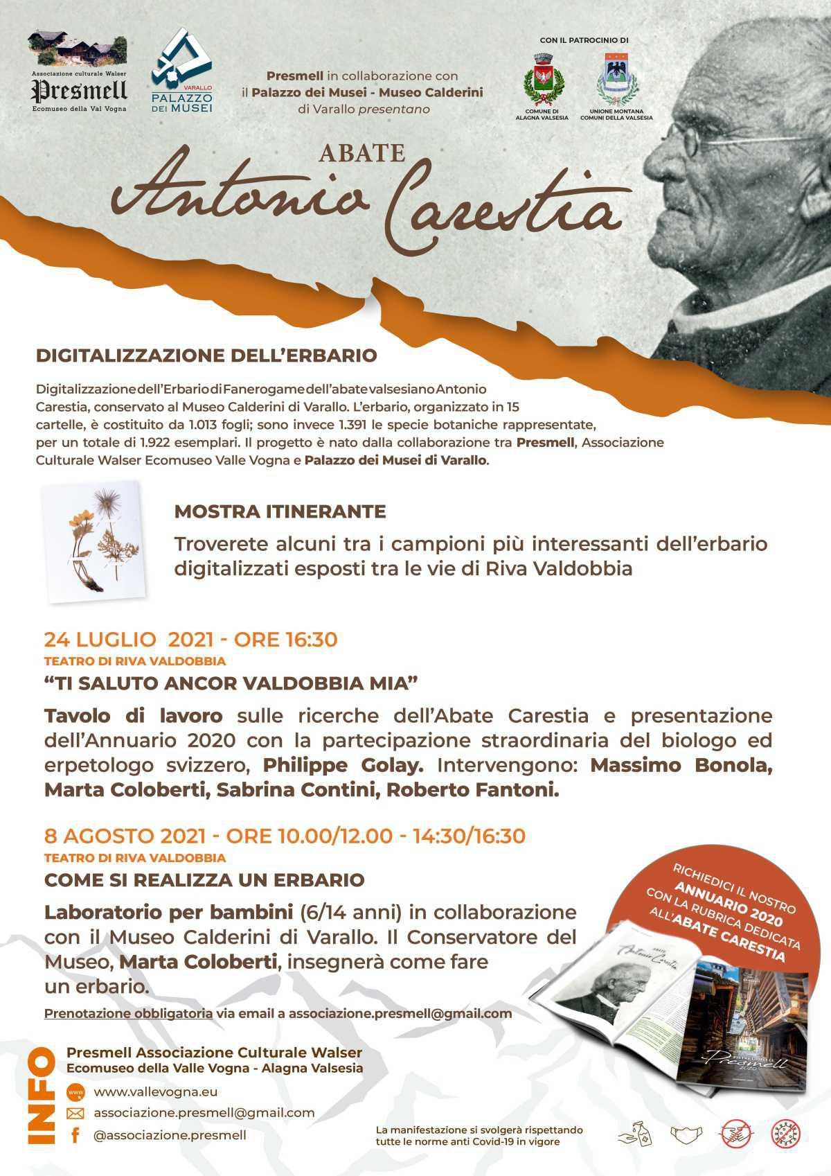 Digitalizzazione dell'erbario - Riva Valdobbia