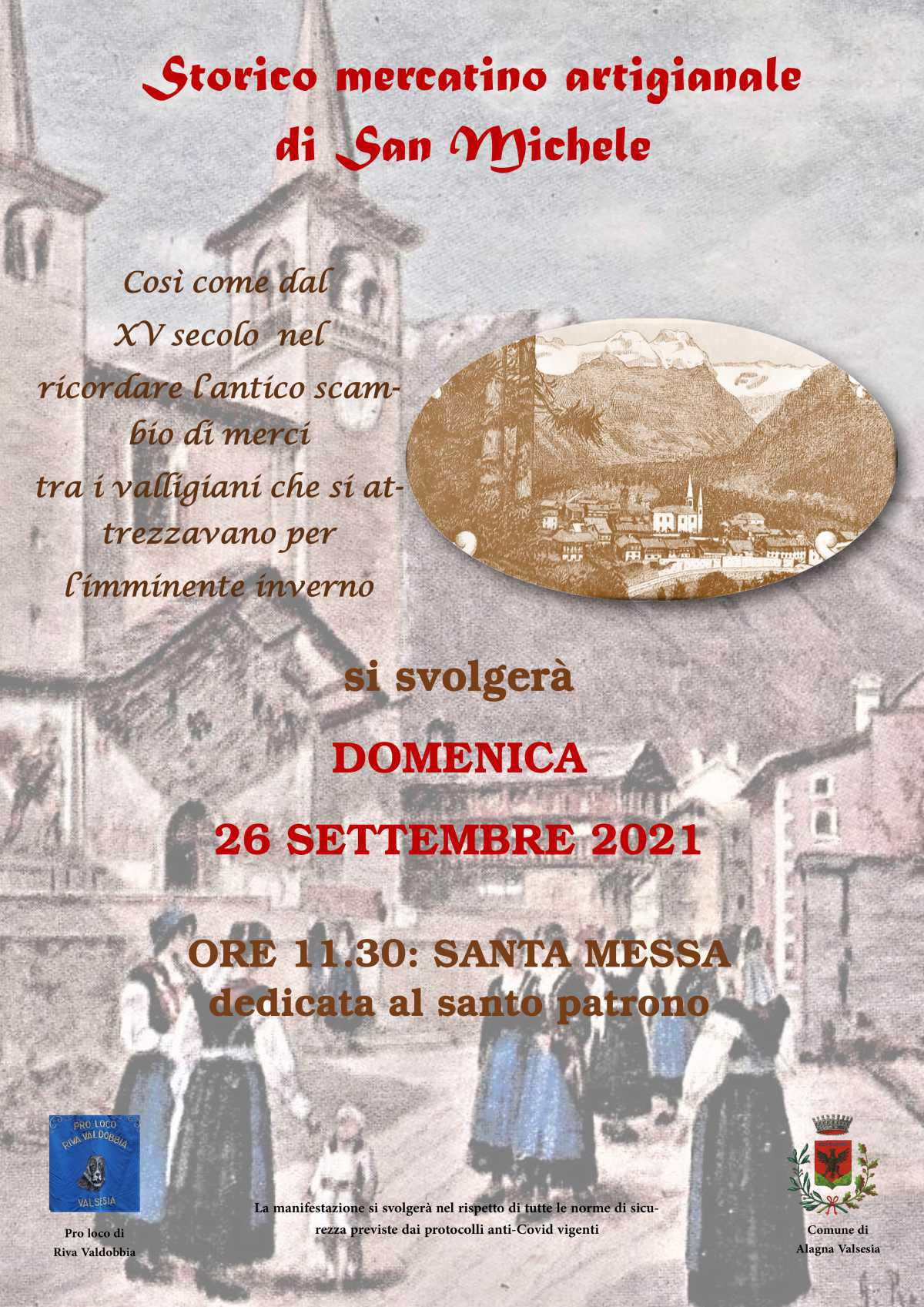 Storico mercatino di San Michele - Riva Valdobbia