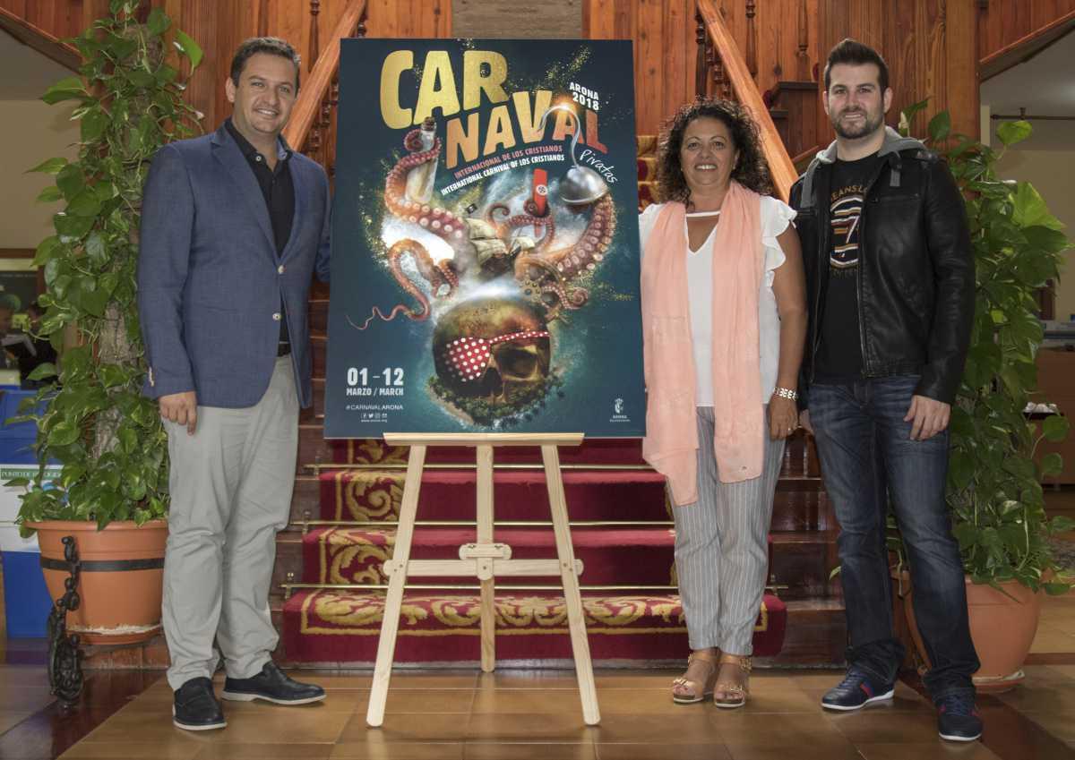 El Carnaval 'pirata' de Los Cristianos 2018 ya tiene cartel anunciador