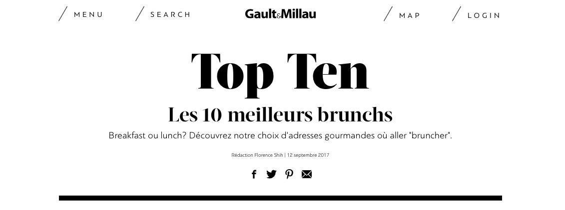 Les 10 meilleurs brunchs de suisse romande selon Gaultmillau.