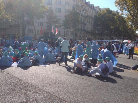 Manifestation des IADES le 1er Octobre 2015