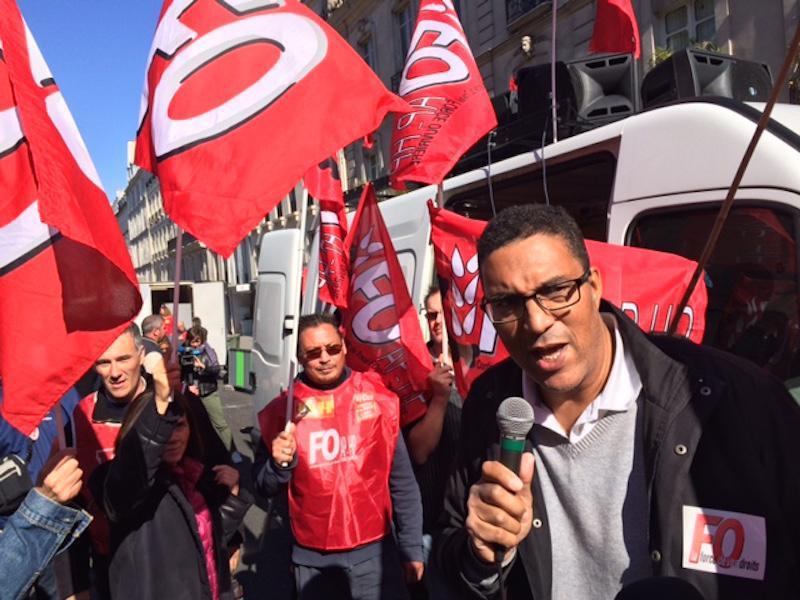 Manifestation devant le Sénat le 1er Octobre 2015