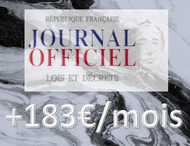 Les +183 €/mois inscrits dans le marbre