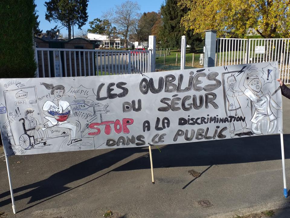 « Le 8 décembre : Tous en grève et dans l'action ! Pour l'extension des mesures du « Ségur » à tous les agents du Social et Médico-Social Publics et Privés ».