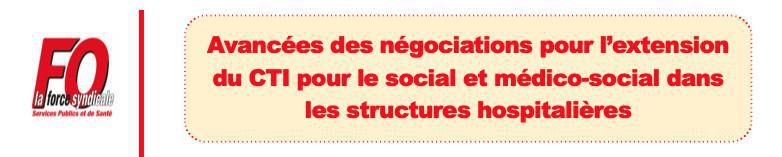 Avancées Négociations CTI Social et Médico social