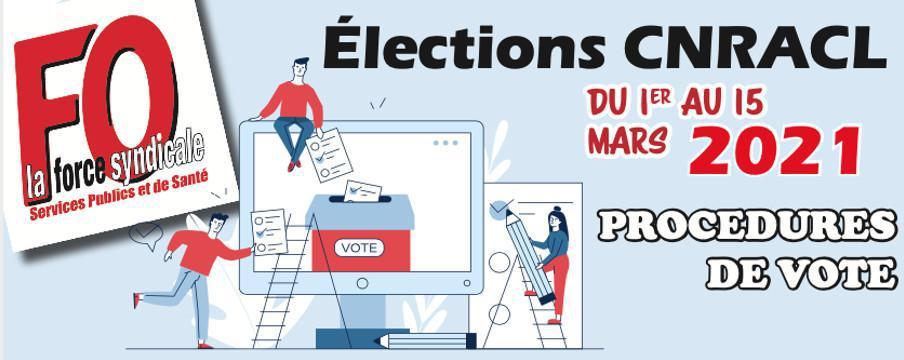 Elections CNRACL: PROCĖDURES DE VOTE