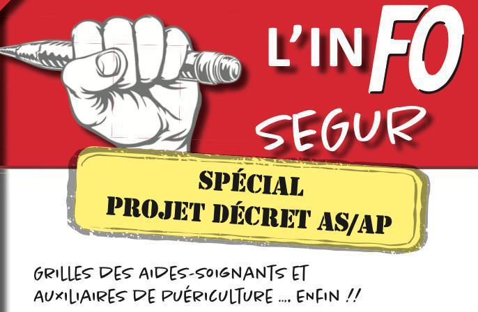 INFO Ségur Spécial projet décret AS AP