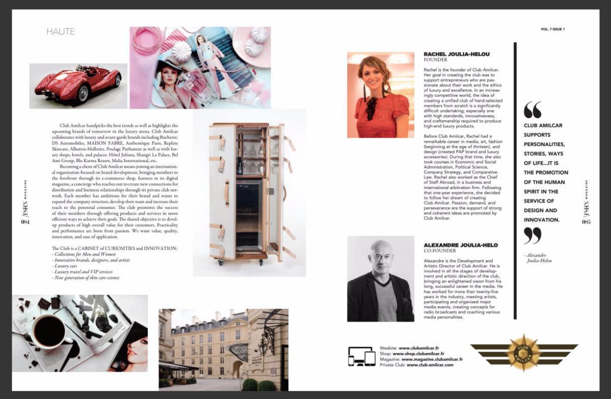 Le magazine américain FSHN parle du Club Amilcar - The US magazine FSHN talks about the Club Amilcar