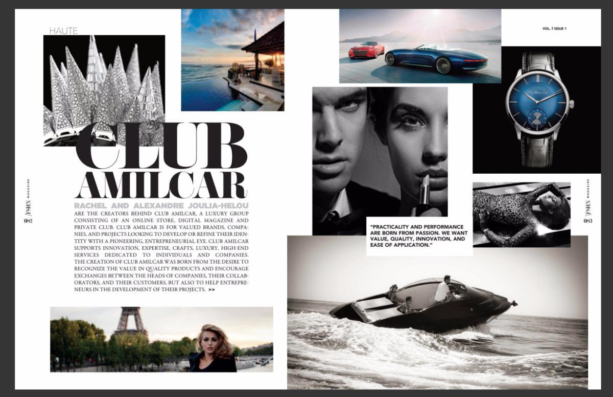 FSHN MAGAZINE parle du Club Amilcar - The US magazine FSHN talks about the Club