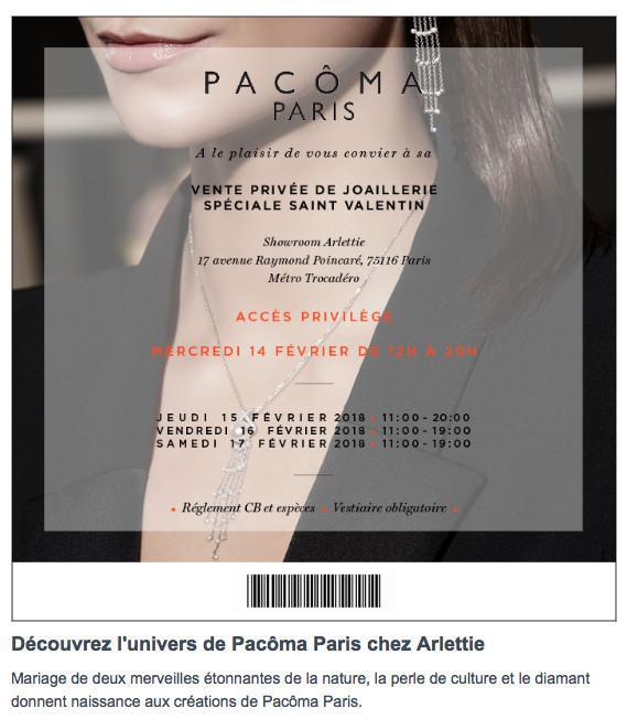SPÉCIAL SAINT VALENTIN : SAVE THE DATE PACOMA PARIS - Ventes privées - Privilege sales