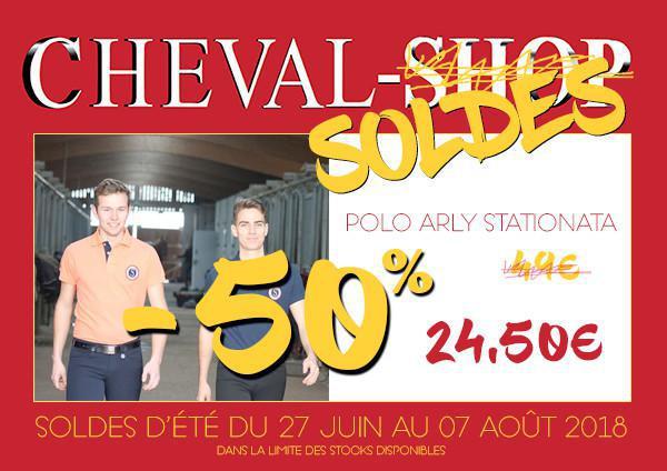 -50% sur votre polo Arly STATIONATA !