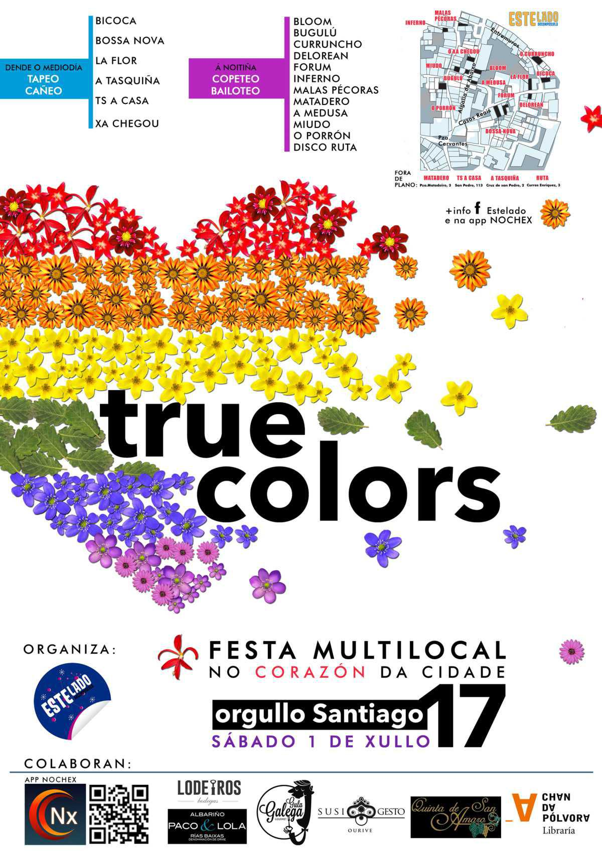 True Colors, Fiesta del Orgullo en Santiago de Compostela