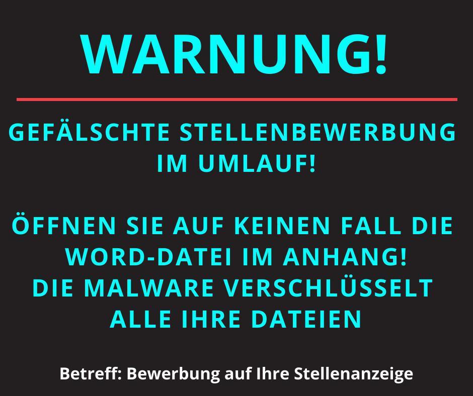 Warnung: aktuelle Bedrohungen